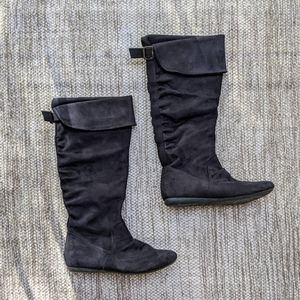 Report Black Suede Boots